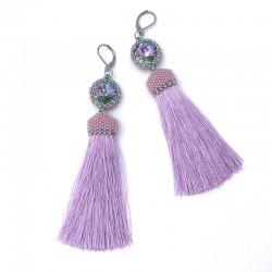 Arabella (violet) - kolczyki